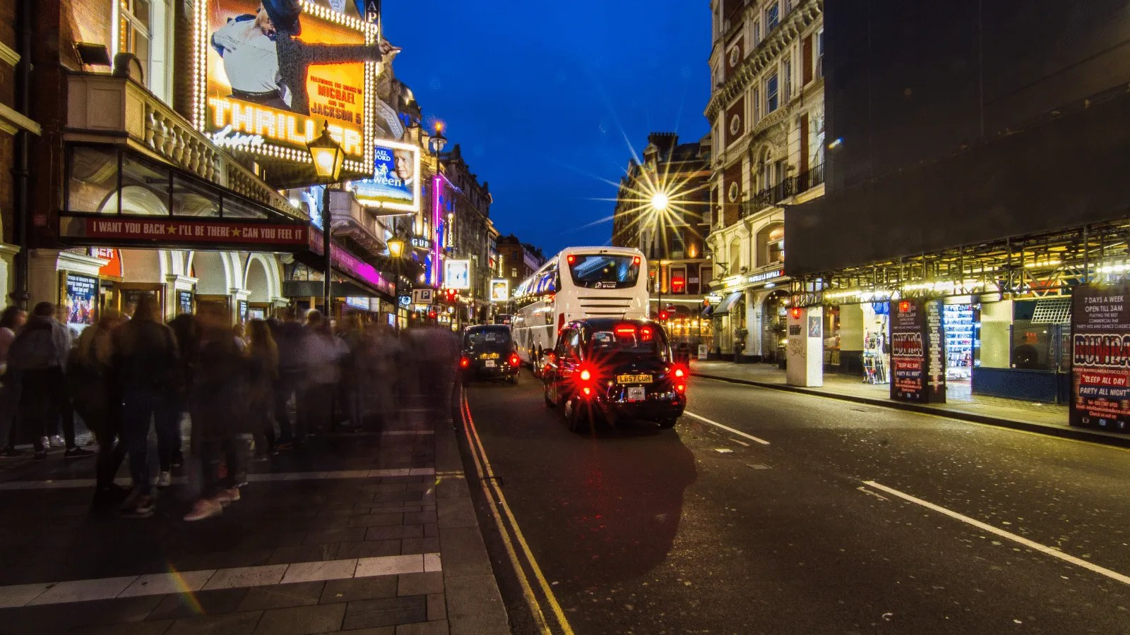 Shaftesbury Avenue, one of the main thoroughfares in London's West End thumbnail