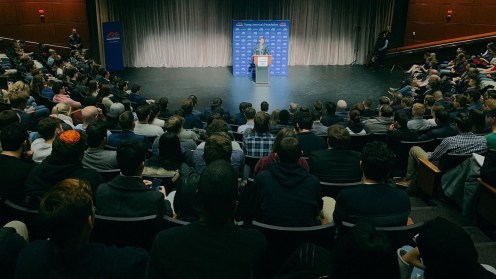 Photo provided by @GWYAF Twitter - Shapiro speaks at GWU in January