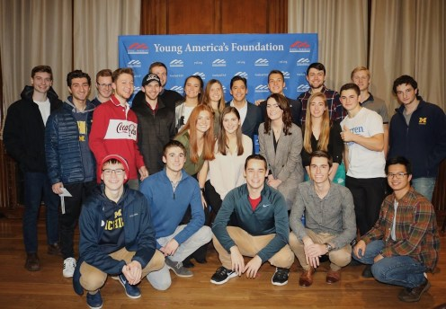 Photo provided by Kate Westa - UM YAF chapter with Michael Knowles last November