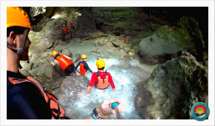 Action beim Canyoning