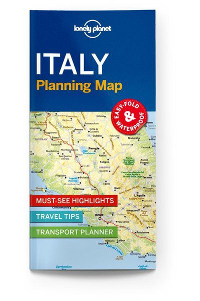 Italy Planning Map, Edition - 1 by Lonely Planet