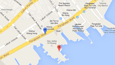 Chew Jetty Map
