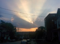 Sunset in Cincinnati, Ohio as seen from Riddle Road.