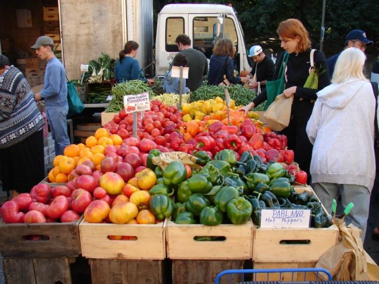 Shop local at farmers markets