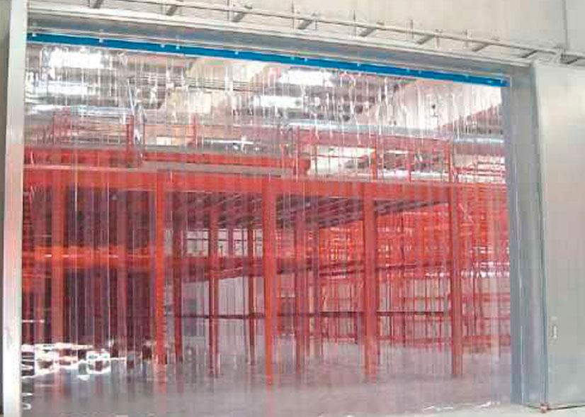 Cortinas de PVC para cámaras frigoríficas