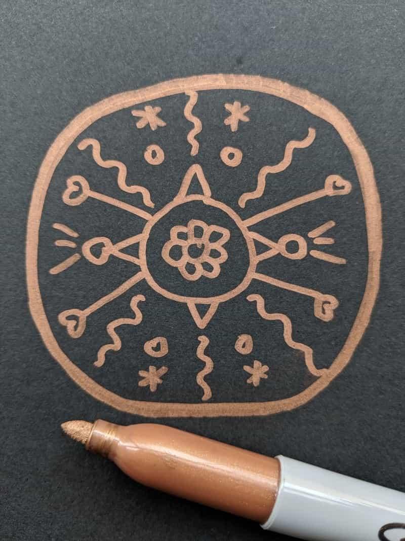 Image of an art therapy mandala