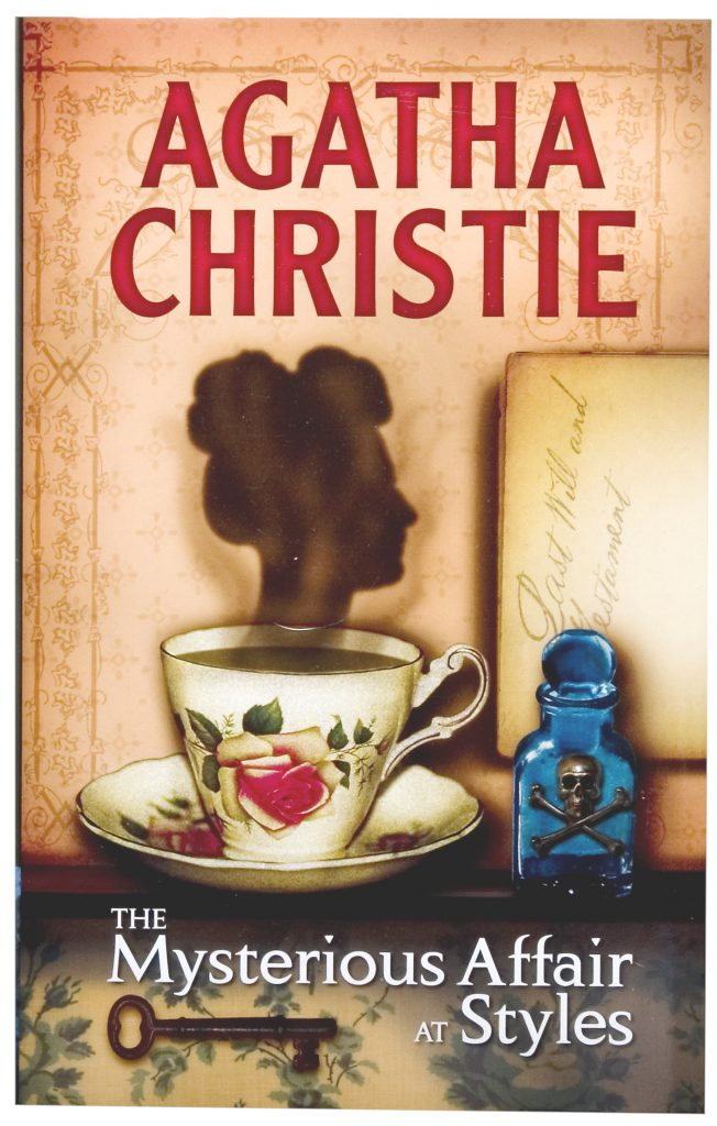 book cover for mysterious affair at styles by agatha christie