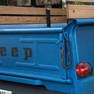 1964 J300 Jeep Tailgate and Tail Light