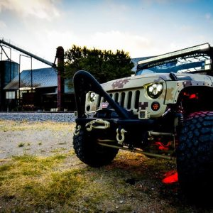 Custom Lighting Camo Jeep Wrangler
