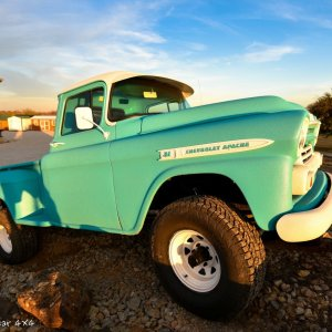 1959 Chevy Apache Truck Front Passenger Side