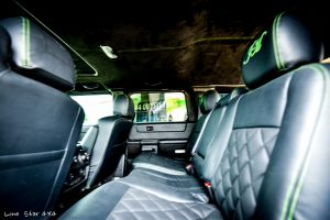 Custom Hummer H2 Interior Leather Back seats