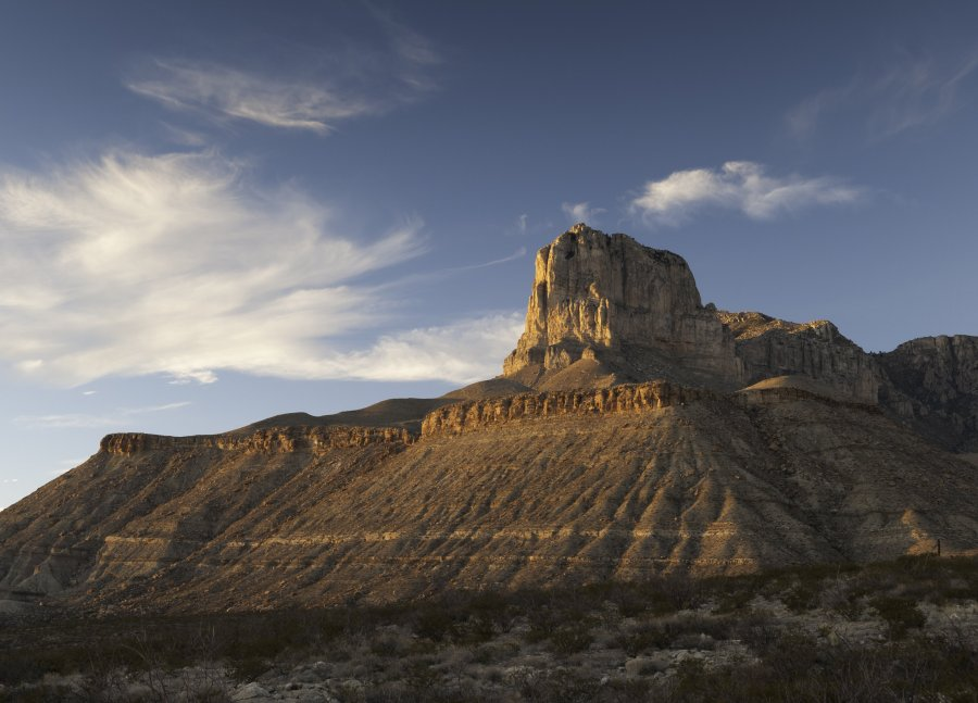 Gudalupe Mountains National Park is located in West Texas. El Capitan stands as a prominent landmark over the Chihuahuan Desert. ** Note: Soft Focus at 100%, best at smaller sizes