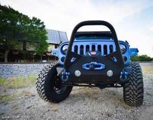 Sprayed Blue Jeep Rubicon Grille Guard