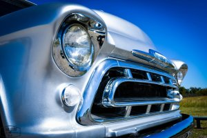 1957 Big Window Chevy Truck Headlights and Grille
