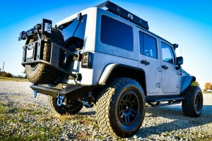 Silver Custom Jeep Wrangler Rear View
