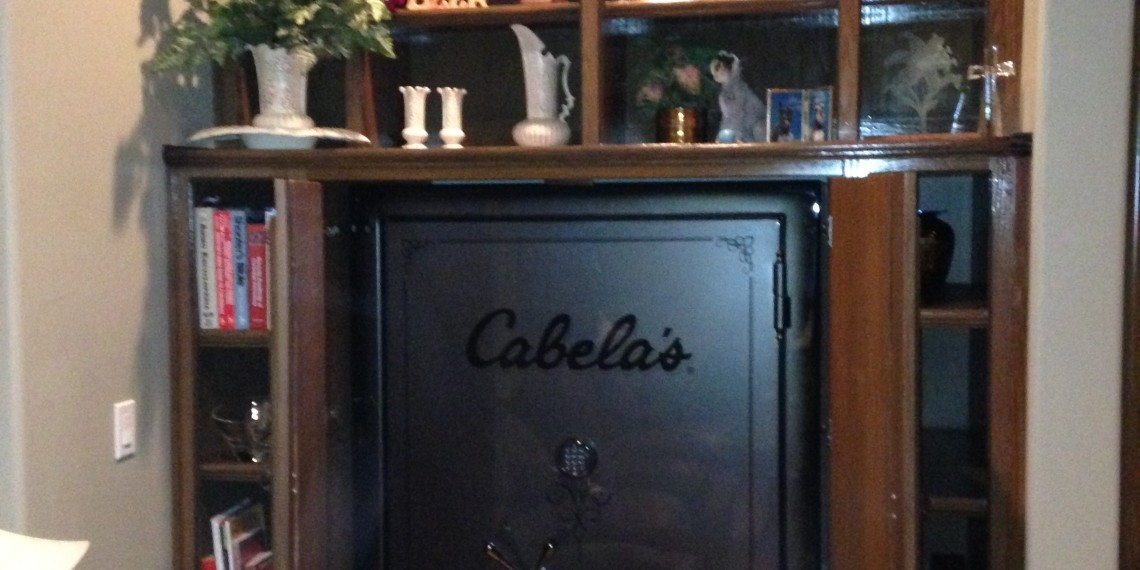 Oak Built In Safe Cabinets Lone Star Artisans