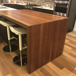Kitchen Island Seating Industrial Cart Cherry Butcher Block Table - Lone Star Artisans