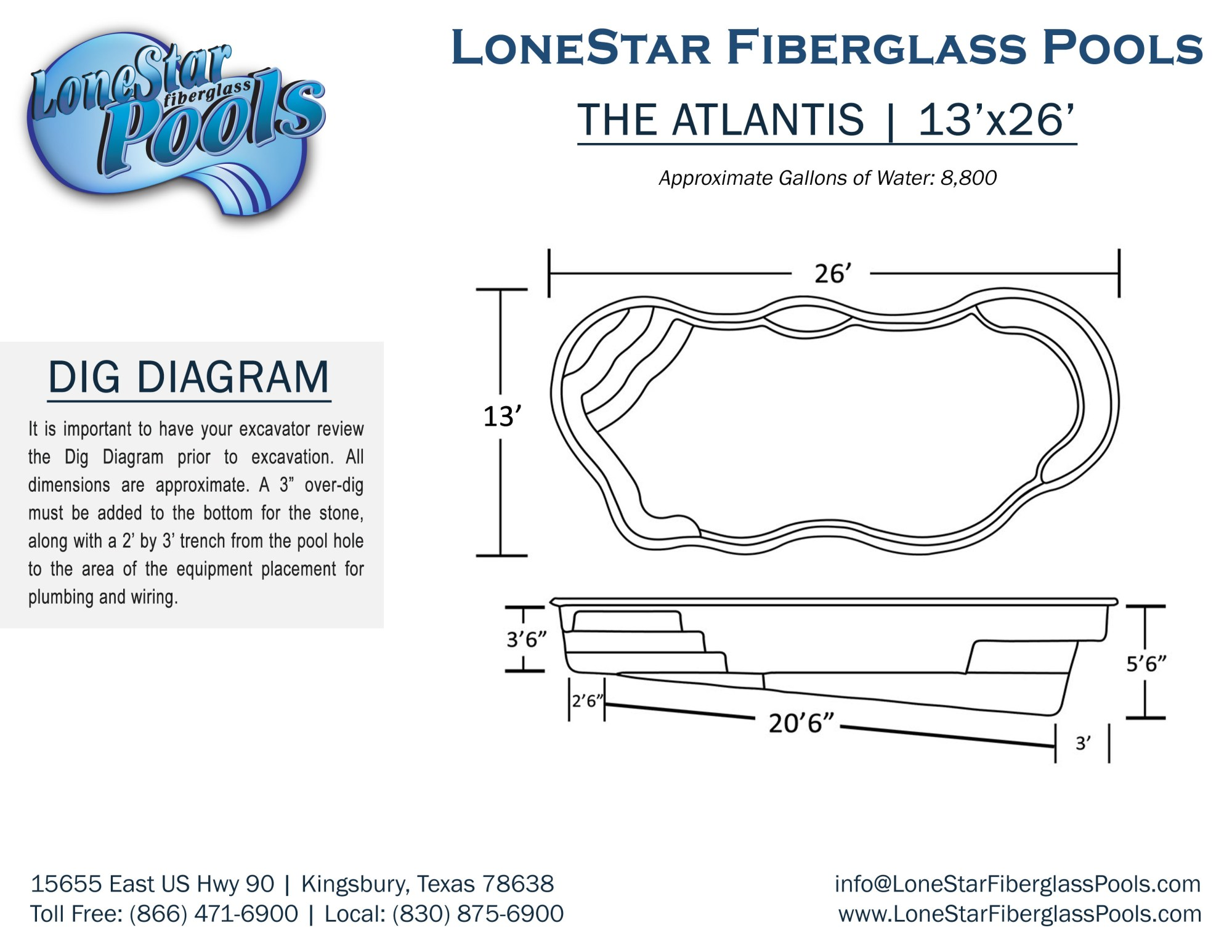 hight resolution of atlantis inground fiberglass swimming pool dig diagram