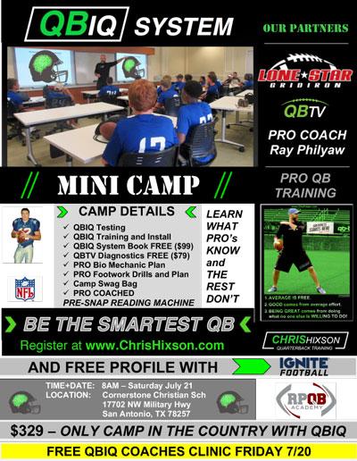 QBIQ QB Camp, San Antonio, Texas
