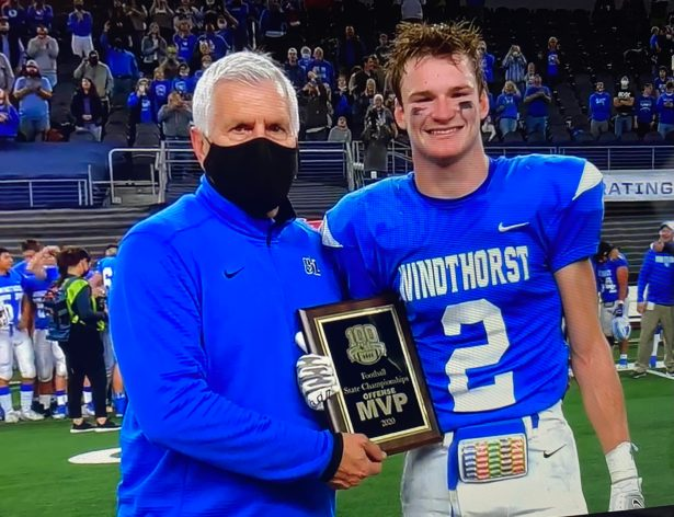Kyle Wolf Offensive MVP Windthorst State Championship 2020