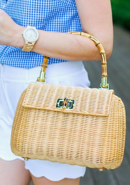 jord wood watch, j mclaughlin picnic satchel, j mclaughin wicker purse, j mclaughin satchel, jord watch