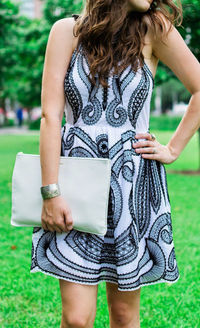 Styling and Giving Away Yoana Baraschi's Black and White Voodoo Embroidered Racer Dress!