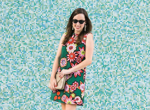house of holland stamp shift dress, house of holland green floral dress, house of holland floral dress, houston blogger, houston fashion blogger, tootsies houston