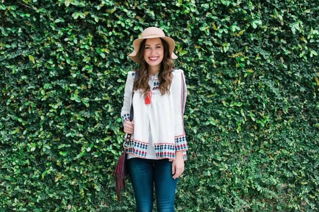 zara embroidered jacket, shein embroidered jacket, embroidered jacket, white and red embroidered jacket, sheinside, sheinside style blogger, sheinside embroidered top, zara white embroidered top, embroidered top with jeans and a floppy hat, tan floppy hat and tan shoes, tan felt hat, tan booties, the lone star looking glass, lone star looking glass, alice kerley, houston fashion blogger, houston style blogger
