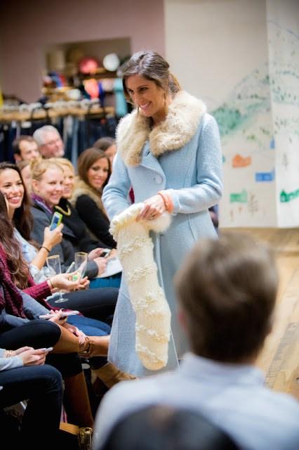 Anthropologie Holiday Fashion Show 2015, Anthropologie Light Blue Coat, Light blue Coat with white Fur Trim, blue coat with fur trim, anthropologie winter coat, blue winter coats