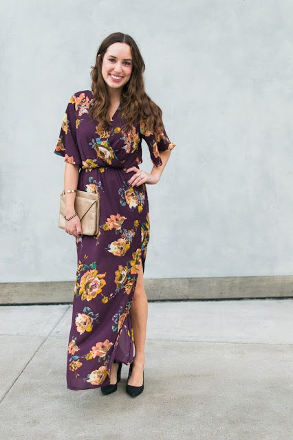 Everly floral maxi dress, purple floral maxi dress, winter florals, the lone star looking glass, restricted jay heels, loren jope bangles, how to wear a floral maxi dress, floral kimono maxi dresses, houston fashion bloggers, texas fashion bloggers, top houston fashion bloggers