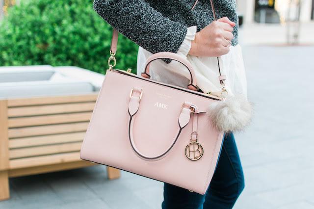 henri bendel west 57th small turnlock satchel, pink satchel, rose satchel, pantone 2016 purses, the lone star looking glass