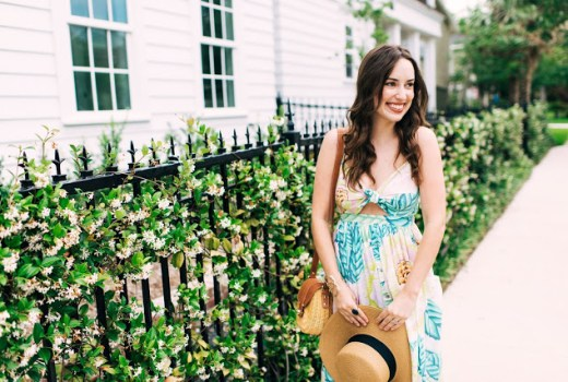 mara hoffman floral maxi dress, what to wear to the kentucky derby, kentucky derby outfit inspiration