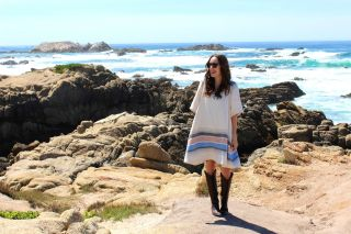 Big Sur Coast, what to wear in big sur, pacific coast highway fashion, suno poncho dress, old gringo mayra boots, rent the runway poncho dress, the lone star looking glass, houston fashion blogger
