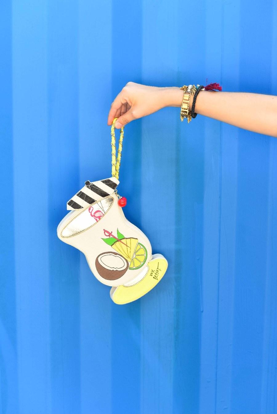 cute clutches, pina colada clutch, quirky clutches, quirky purses, pina colada purse, the bagtique purses