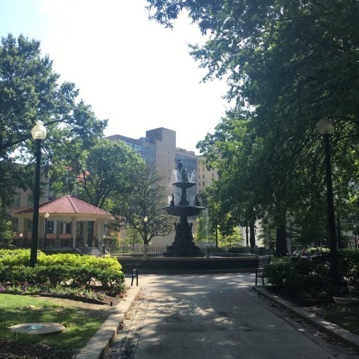 Public park in downtown Memphis