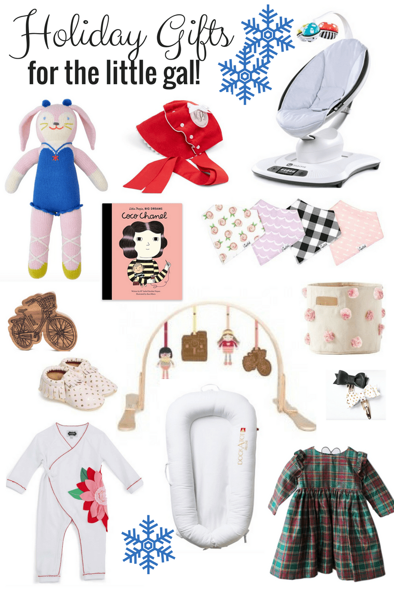Christmas and holiday gift ideas for baby girls under 2 years old.