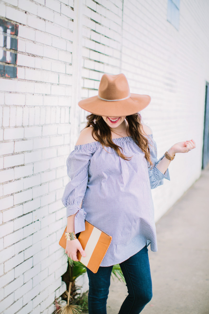 Striped_Off_The_Shoulder_Maternity_Top-7