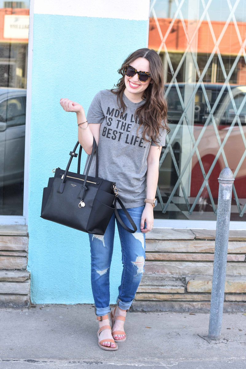 Mom Style and a Henri Bendel Diaper Bag Review