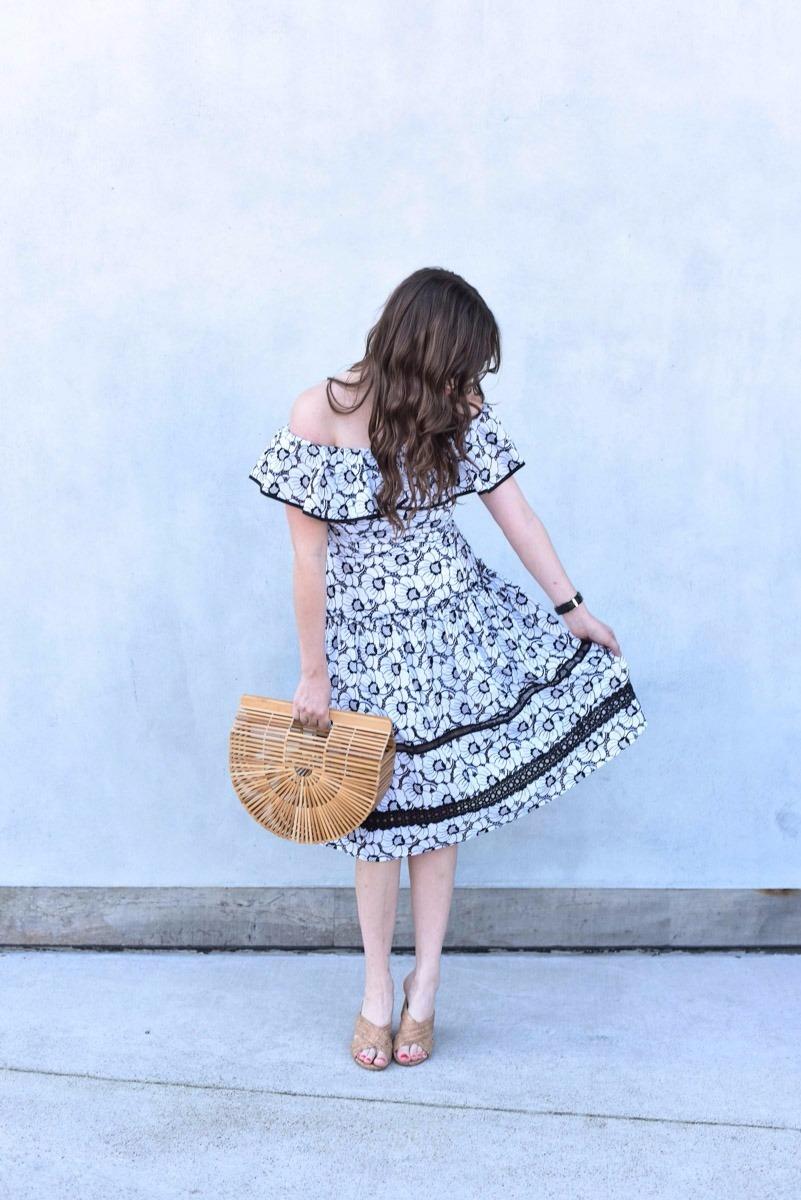 Black_White_Off_The_Shoulder_Spring_Dress-6