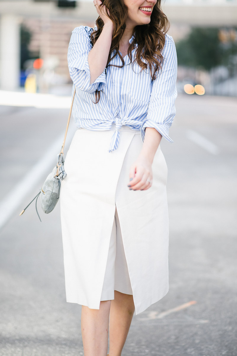 Spring outfit inspiration: how to wear white culottes.