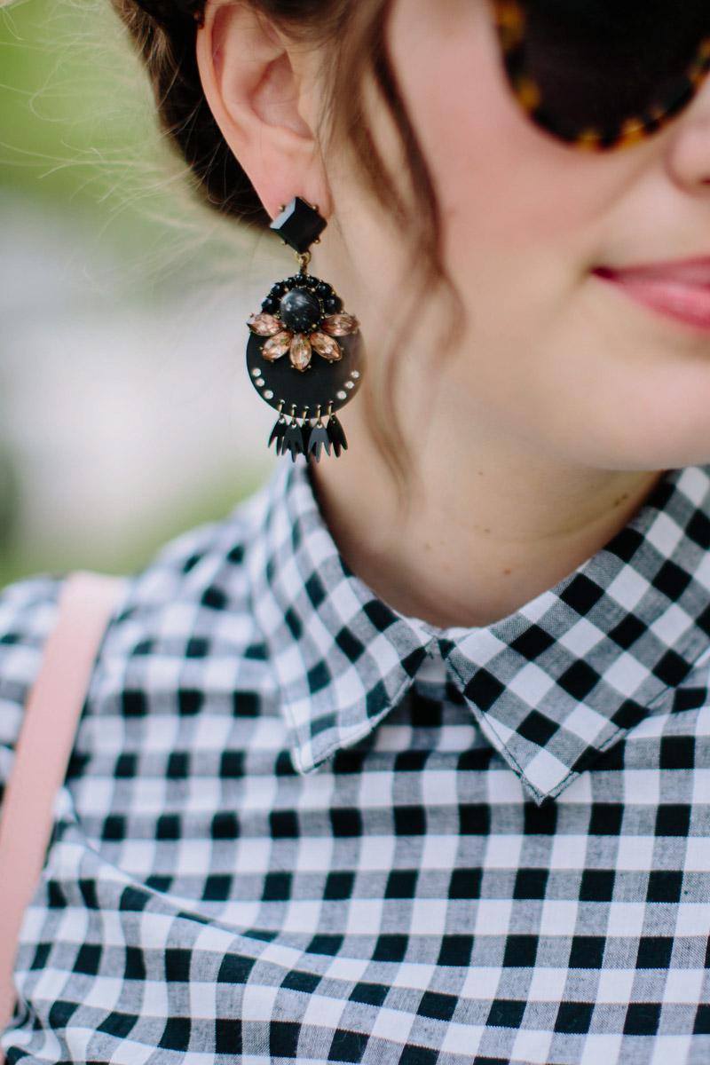 Baublebar Black Statement Earrings