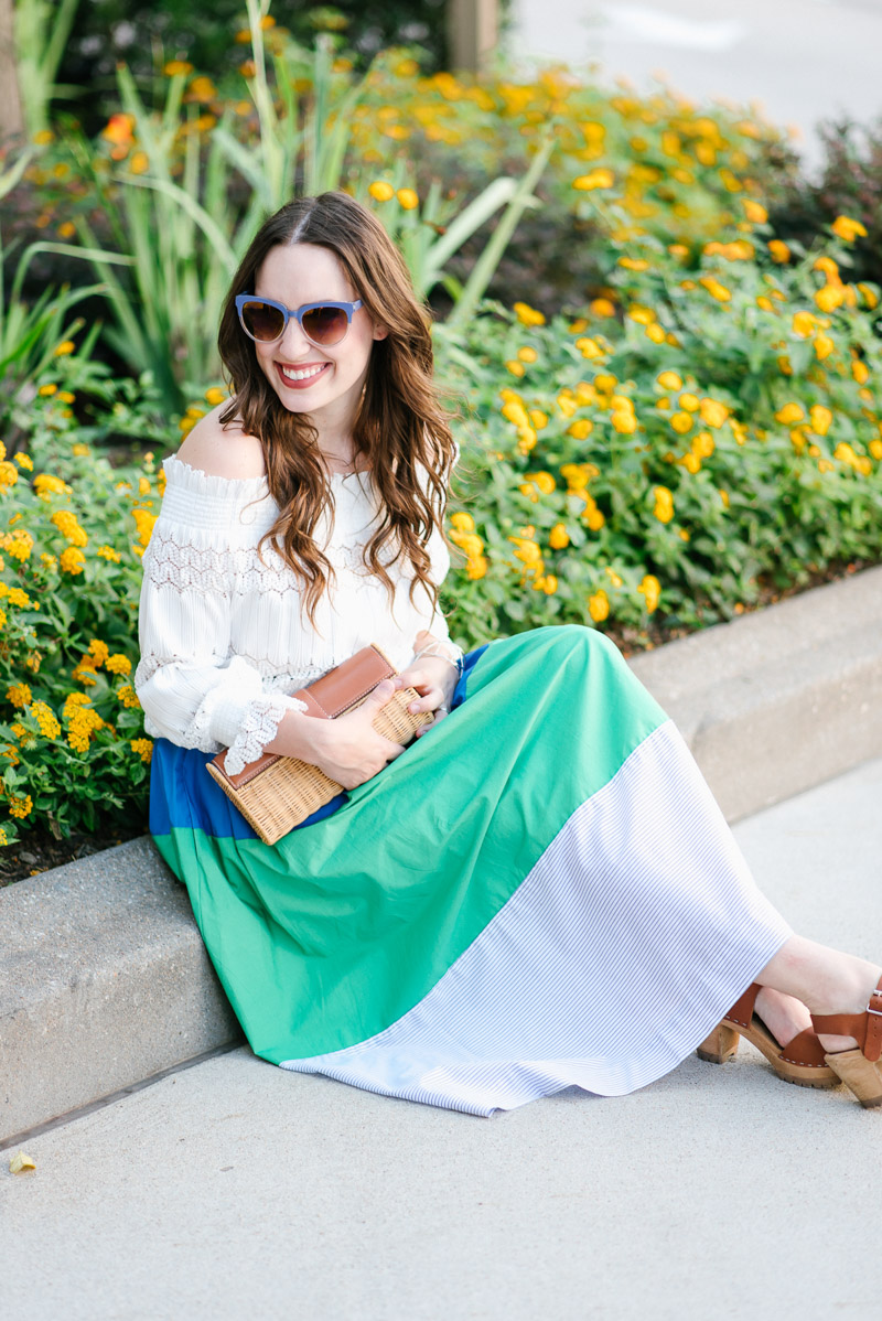 Anthropologie_Striped_MIdi_Skirt_White_Off_the_Shoulder_Top-7