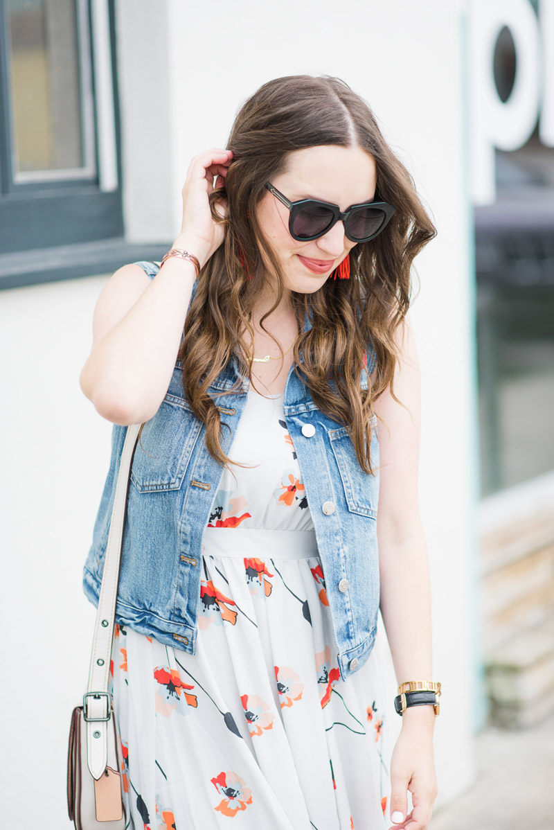 Madewell Embroidered Denim Vest