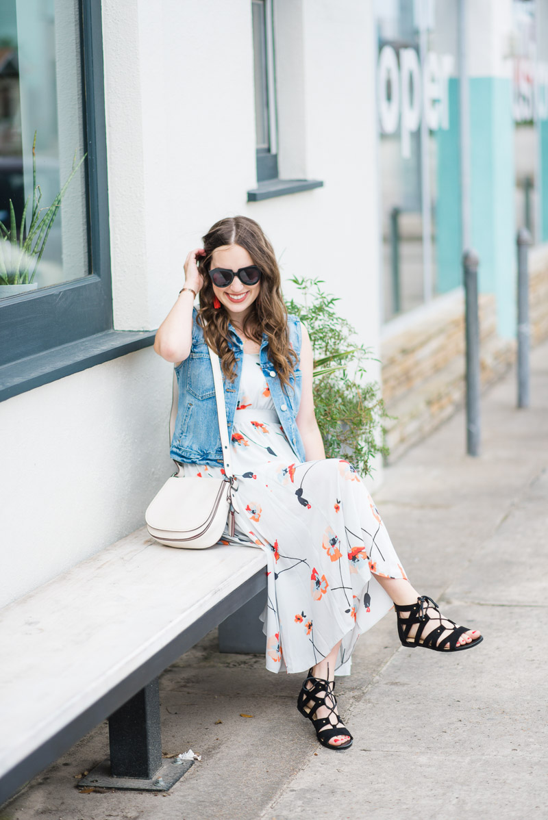 Houston blogger styles a Paper Crown dress for spring.