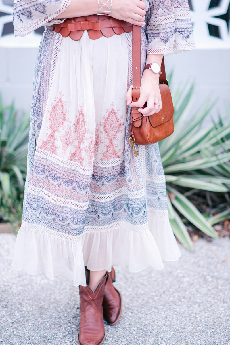 Anthropologie Toronto Dress paired with Tecova boots.
