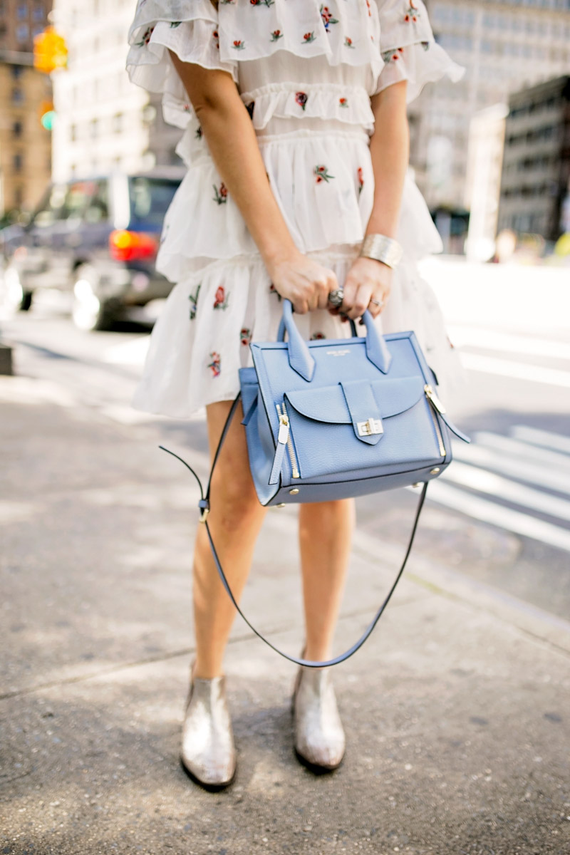 Henri Bendel Rivington Crossbody Bag in Blue.