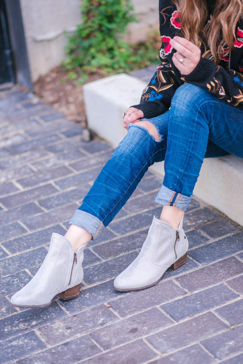 Revere Shoes Sienna Gold Wash Booties