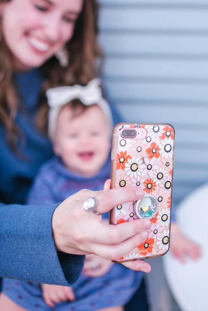 Chatting about my take on motherhood & technology with Origami Owl.