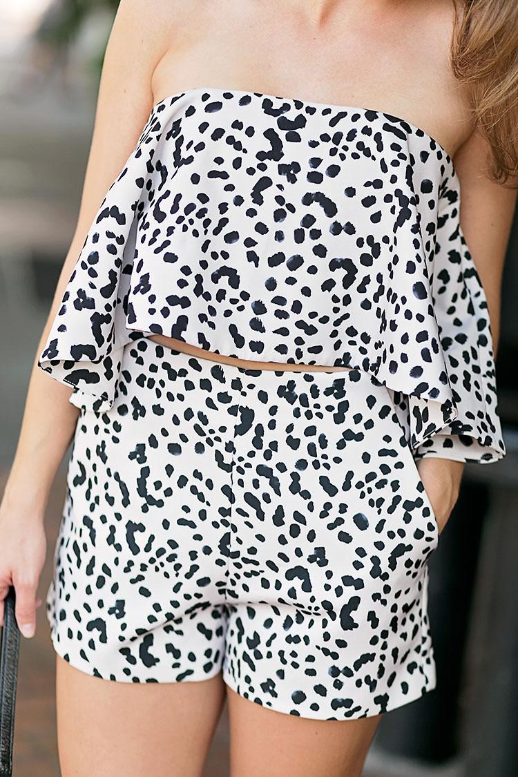 dalmatian, dalmatian print, dalmatian print top, dalmatian print bottoms, dalmatian print clothing