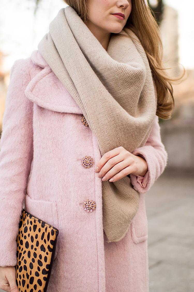 pink kate spade coat